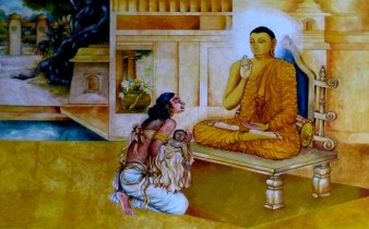 07 Kisagotami with her Dead Child, at the Nava Jetavana, Shravasti